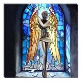 Startonight Canvas Wall Art Angel Girl, Women USA Design for Home Decor, Dual View Surprise Artwork Modern Framed Ready to Hang Wall Art 31.5 X 31.5 Inch 100% Original Art Painting!