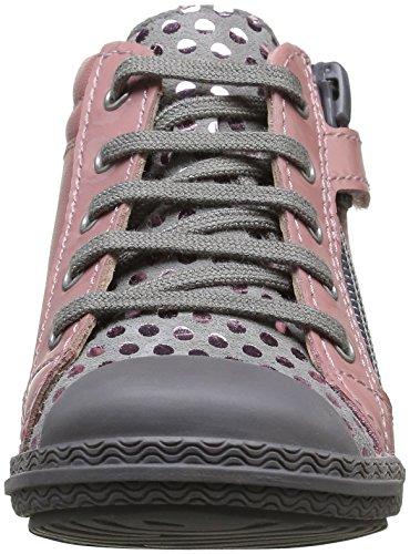 Premiers Mod8 Pas Kloklo Chaussures Fille Bébé Rose Imprimé Rose AqPZEx