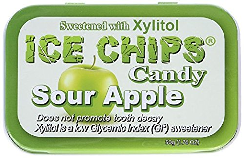 ICE CHIPS Sour Apple Candy, 1.76 - Sugar Free Sour