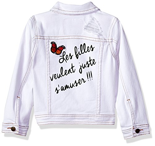 Limited Too Little Girls' Jean Jacket, White, 10/12 by Limited Too (Image #2)