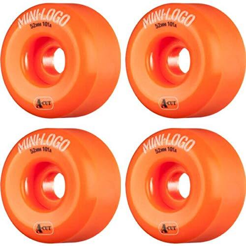最悪ましい薬Miniロゴa-cutオレンジスケートボードホイール – 52 mm 101 a ( Set of 4 )