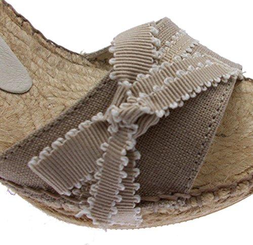 Arc Sandale Compensée Corde Pedra Art Beige Toni Pons Denise ASw1qwYP
