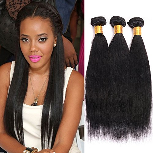 BeautyGirl Hair Brazilian Straight Virgin Hair Extensions Good Quality 3Pcs Lot Straight Remy Hair Weave 100% Human Hair Extensions (20 20 20)