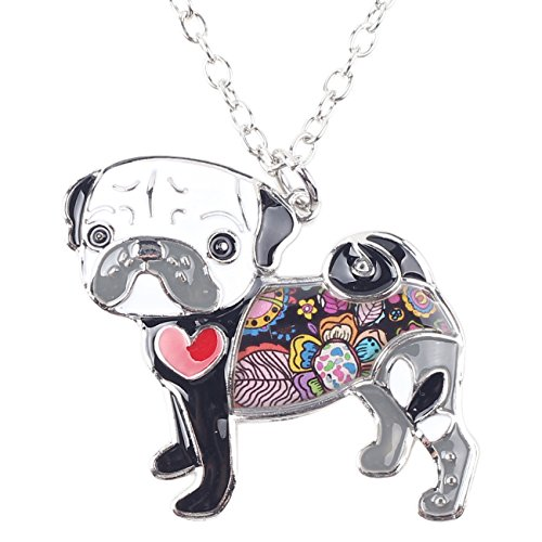 Bonsny-Love-Heart-Enamel-Zinc-Alloy-Metal-Pug-Dog-Necklace-Bulldog-Animal-pendant-18
