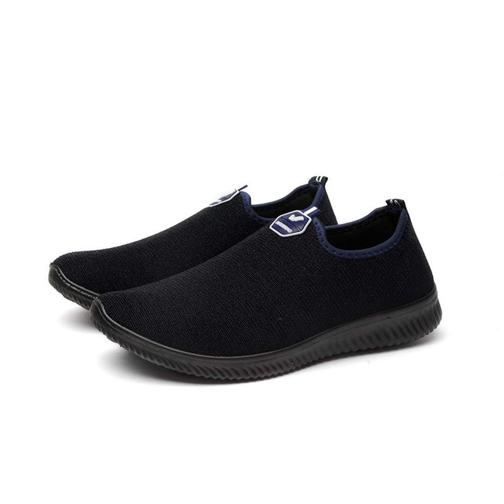 Qiusa Herren Slip auf Outdoor-Schuhe weiche Sohle Rutschfeste Breathable Casual Wanderschuhe (Farbe : Blau, Größe : EU 40)