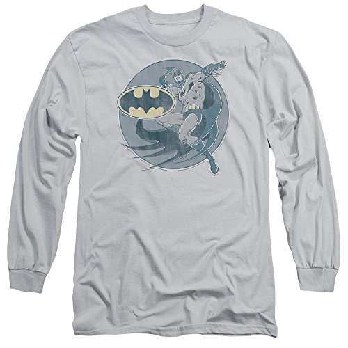 Batman+Retro+Shirts Products : DC Comics Retro Batman Iron On Faded Adult Long Sleeve T-Shirt