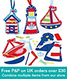 Baker Ross Seaside Felt Decoration Sewing Kits 3 Assorted Complete Sets with Instructions, for Children to Sew & Display (Pack of 3)