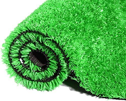 YNGJUEN 15ミリメートルパイル高人工芝生ドアマット、合成芝生カーペットドアマットガーデン芝生ゴム排水口 (Size : 2x6m)