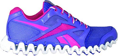 Price comparison product image Reebok ZigNano Fly 2 Running Shoe (Little Kid/Big Kid),Pushy Purple/Cosmic Berry/White/Silver,6.5 M US Big Kid