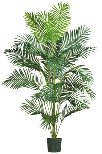 Nearly Natural 5261 Paradise Artificial Palm Tree, 7-Feet, Green ()