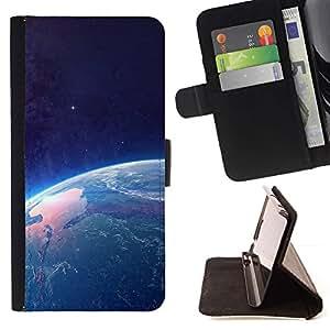 Momo Phone Case / Flip Funda de Cuero Case Cover - Tierra desde el espacio;;;;;;;; - Sony Xperia Style T3