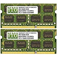 16GB (2 X 8GB) DDR3-1333MHz PC3-10600 SODIMM for Apple iMac 27 Mid 2010 Intel Core i5 Quad-Core 3.6GHz MC510LL/A (iMac 11,3)