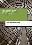 Property Law 2015-2016 (Blackstone Legal Practice Course Guide)