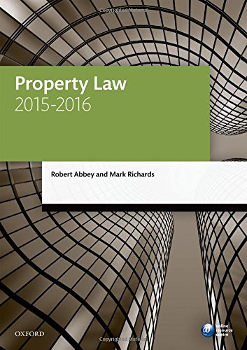 Property Law 2015 2016  Blackstone Legal Practice Course Guide