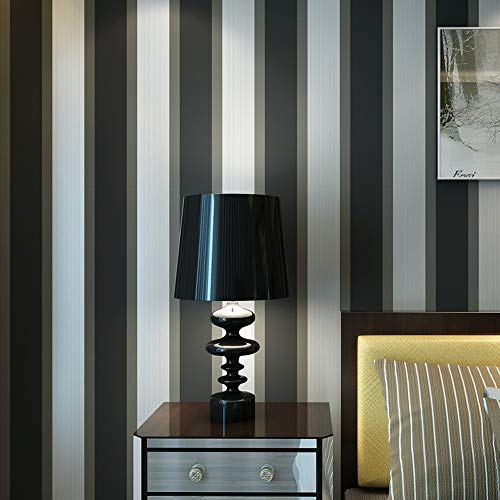 (Textured Gray Black and White Stripes Wallpaper)