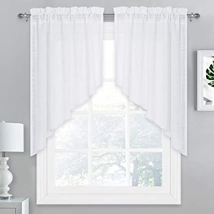Amazon Com Nicetown Small Window Curtains Valances And Swags Home