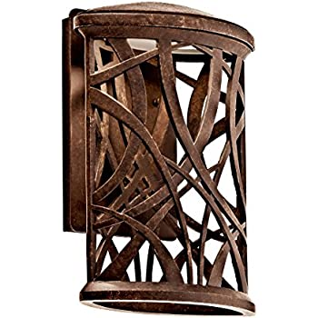 Kichler 49249agzled Led Outdoor Wall Mount Wall Porch