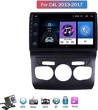Android 8.1 Quad Core GPS Navegador Coche para Citroen C4 C4L 2013-2017 - FM Am Radio del Coche, Conexión a Internet WiFi/BT, Soporte DVR USB/Llamadas Manos Libres,4g+WiFi: 1+16 GB: Amazon.es: Deportes y
