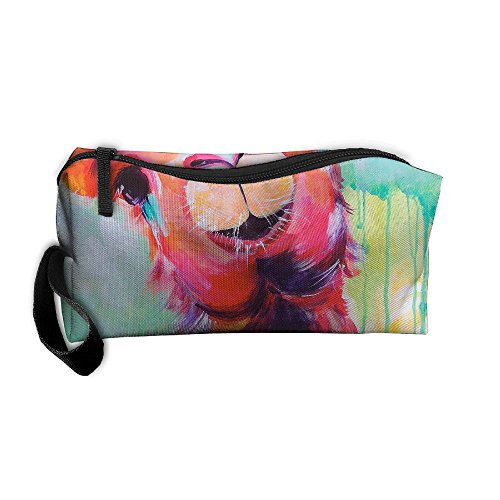 Color Painting Llama Cosmetic Bags Brush Pouch Makeup Bag Zipper Wallet Hangbag Pen Organizer Carry Case Wristlet Holder]()