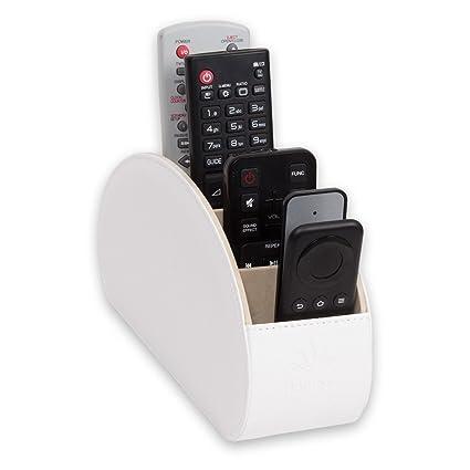 Porta Telecomandi Tv.Homeze Porta Telecomandi Con 5 Scomparti Per Contenere Telecomandi Di Tv Stereo Decoder Dvd Blu Ray In Ecopelle Con Fodera Interna In Suede