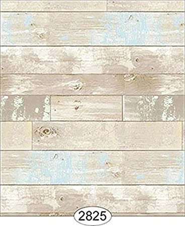 Hamilton Blue Aqua and Brown 1:12 Scale Dollhouse Miniature Wallpaper