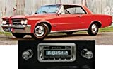 1964-1966 GTO LeMans Tempest USA-630 II High Power 300 watt AM FM Car Stereo/Radio with AUX Input, USB Input, iPod Docking Cable. No modifications to original dash required.
