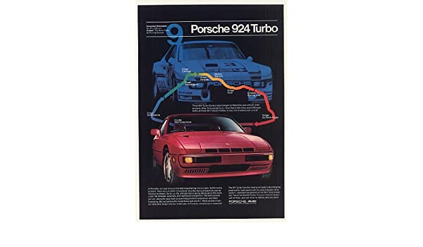 Amazon.com: 1981 Red Porsche 924 Turbo Race Track Proving Ground Print Ad (46383): Posters & Prints