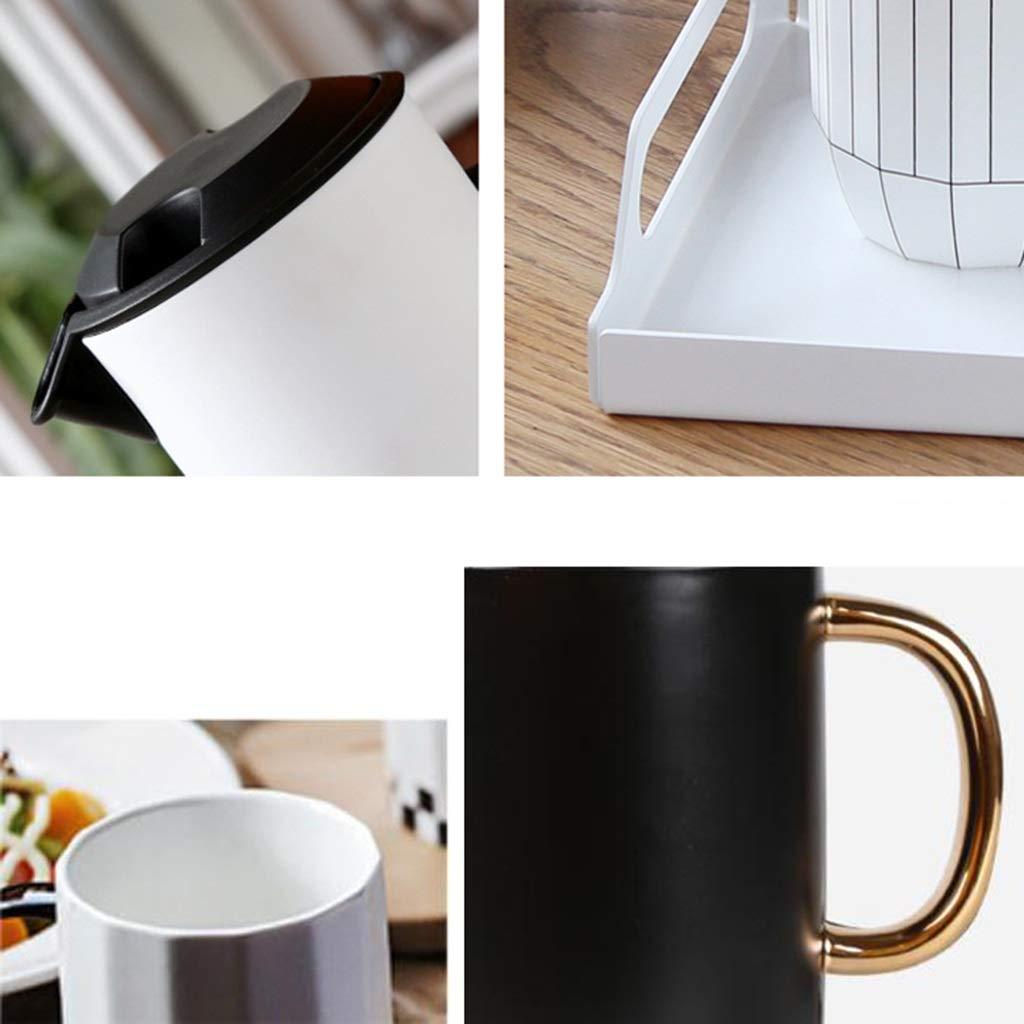CSQ Coffee Cup Four Sets of Tea Sets, Simple Teapot Mug Ceramics Hospitality Tea Set Tea Set Capacity: 1000ml Afternoon Tea (Color : #4) by Tea set-CSQ (Image #7)