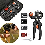 Migiwata Garden Fruit Tree Professional Pruning Shears Grafting Cutting Tool With 3 Replaceable Blades