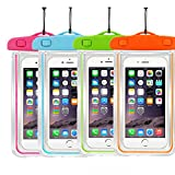 """4Ppack Waterproof Case Universal CellPhone Dry Bag Pouch CaseHQ for Apple iPhone 6S, 6, 6S Plus, SE, 5S, Samsung Galaxy S7, S6 Note5, HTC LG Sony Nokia Motorola up to 5.7"""" diagonal"""