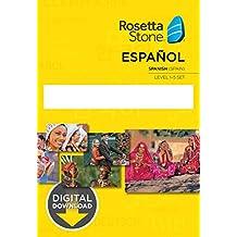 Learn Spanish: Rosetta Stone - Spain Levels 1-5 [Mac Key Card Download]