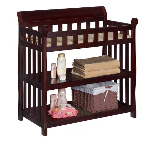 Best Review Of Delta Children Eclipse Changing Table, Espresso Cherry