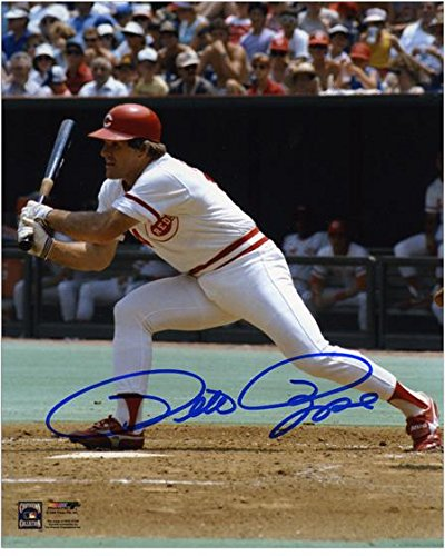 8x10 Rose Pete Autographed Photo - Pete Rose Cincinnati Reds Autographed 8