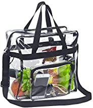 Magicbags Clear Tote Bag Stadium Approved, Adjustable Shoulder Strap and Zippered Top, Stadium Security Travel