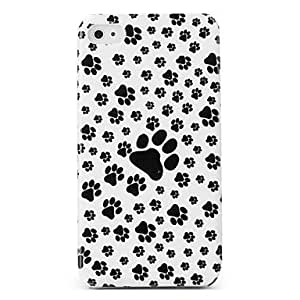 GJY Protective Hard ABS Case for iPhone 4 and 4S (Dog Footprints)