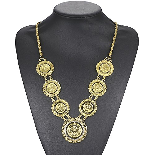 c3a16c0ca69f MCSAYS - Collar de moneda turca con cadena de diamante de diamante de  turca