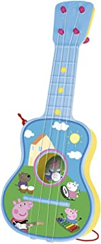 Peppa Pig - Guitarra en estuche, 4 cuerdas (Claudio Reig 2339.0 ...