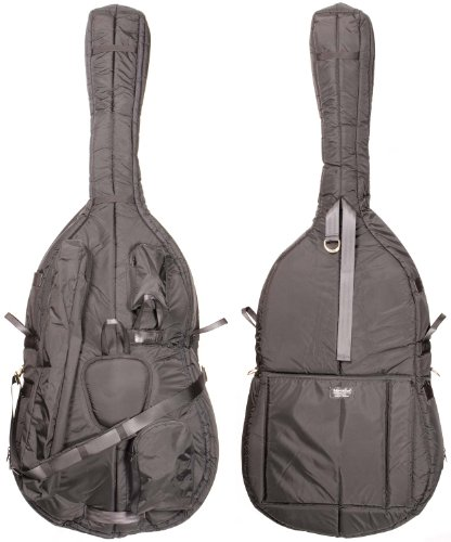Mooradian 3/4 Deluxe Upright String Double Bass Bag - Black