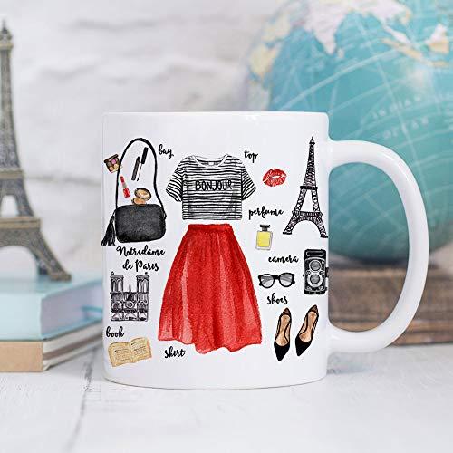 Coffee Mug Paris Fashion Coffee Cup - Eiffel Tower Mug - Paris Cup - France Mug (Coffee Eiffel Cup)