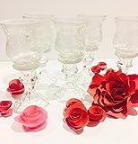 10 tall glass candle holder wedding centerpiece,Tall candle holder,Cracked Look Clear Glass Candleholder,Bridal/wedding decor centerpiece