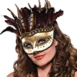 Amscan (Amsdd) Owl Feather Mask Childrens-Costume