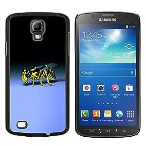 TECHCASE---Cubierta de la caja de protección para la piel dura ** Samsung Galaxy S4 Active i9295 ** --Avispa Bee Sting Amarillo Negro Azul Bug