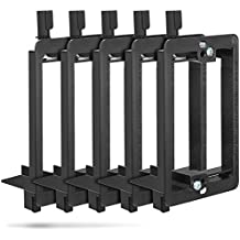 Low Voltage Mounting Bracket (1 Gang, 5 Pack), Fosmon Low Voltage Mounting Bracket [Mounting Screws Included] for Telephone Wires, Network Cables, HDMI, Coaxial, & Speaker Cables