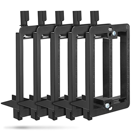 Gang Mounting Wall Bracket (Low Voltage Mounting Bracket (1 Gang, 5 Pack), Fosmon Low Voltage Mounting Bracket [Mounting Screws Included] for Telephone Wires, Network Cables, HDMI, Coaxial, & Speaker Cables)