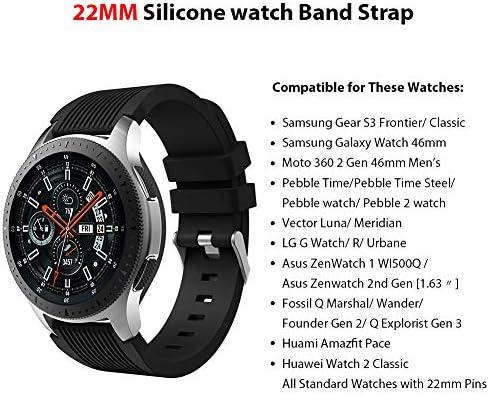 Sundaree Compatible con Correa Galaxy Watch 46MM/Gear S3 Frontier/Classic,6 Colores Silicona 22MM Banda Pulseras Repuesto Correa para Samsung Galaxy Watch 46MM SM-R800/Gear S3 Frontier/Classic(46MM): Amazon.es: Electrónica