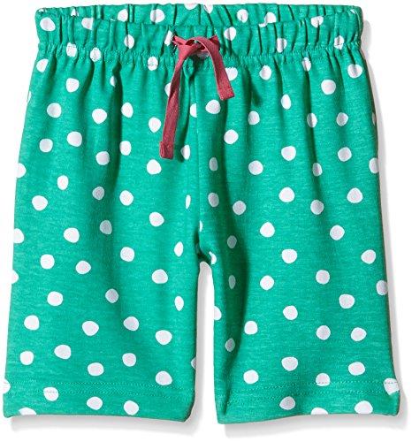 Toby Tiger Mädchen Super Soft Green And White Dot Shorts, GrÃ1/4n (Green/White), 5-6 Jahre (Herstellergröße: 116 cm)