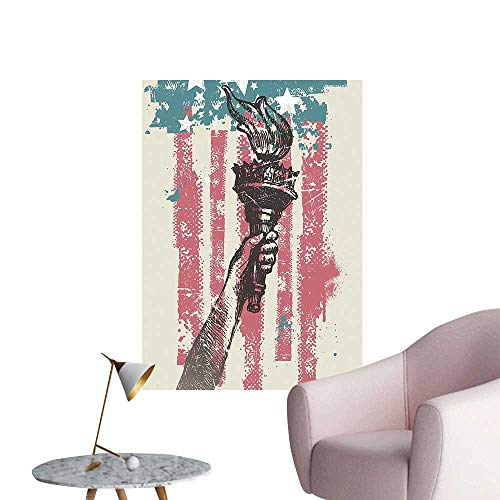 Wall Stickers for Living Room Abstract USA Patriot Sign 4th of Country Coat of Arms Decor Vinyl Wall Stickers Print,28
