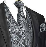 Image of Men's 3pc Paisley Vest (L (Chest 44), Charcoal)