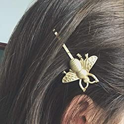 Women Vintage Exquisite Gold Bees Hairpins Side Clip Bridal Hair Accessories