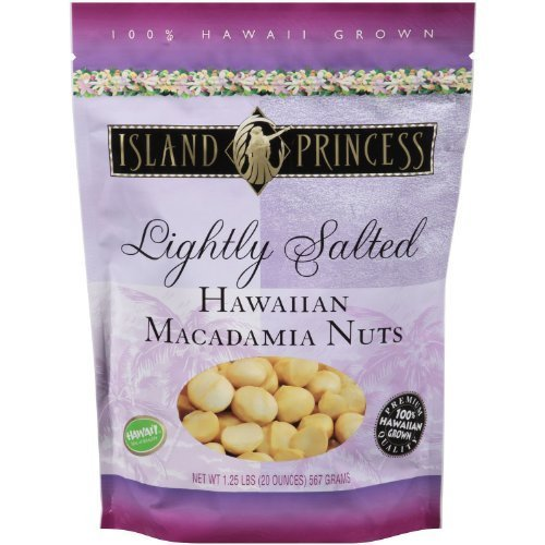 (Lightly Salted Hawaiian Premium Macadamia Nuts 1.25 Lb Resealable Bag From Hawaii by Island Princess)